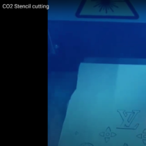 CO2 stencil cutting
