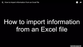 importing excel files