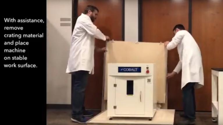 eCobalt - Crate to Marking - Laser Marking Technologies